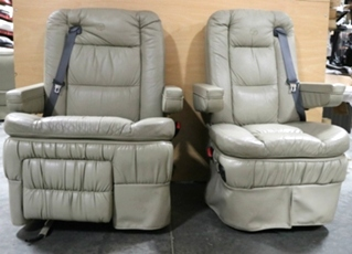 USED RV FLEXSTEEL MONACO SIGNATURE CAPTAIN CHAIR SET FOR SALE